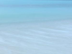 Time exposure of the Bimini tide, The Bahamas.