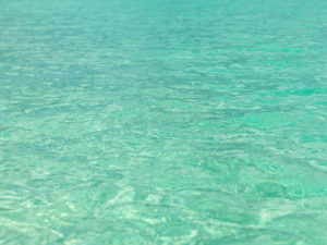 Texture of the emerald green sea surface in Bimini, The Bahamas.