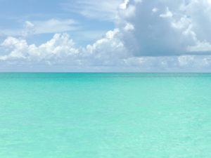 Blue Lagoon Road Beaches of Bimini, The Bahamas.