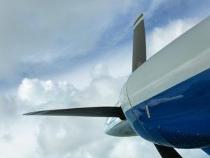 Tropic Ocean Airways seaplane propeller, The Bahamas.